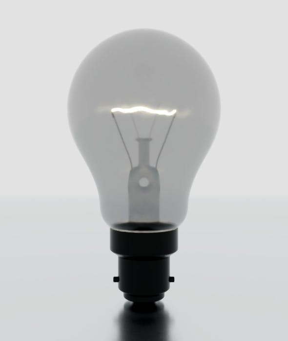 Light Bulb Bayonet - 3DOcean Item for Sale