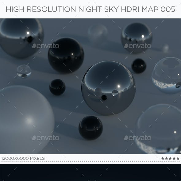 High Resolution Night Sky HDRi Map 005