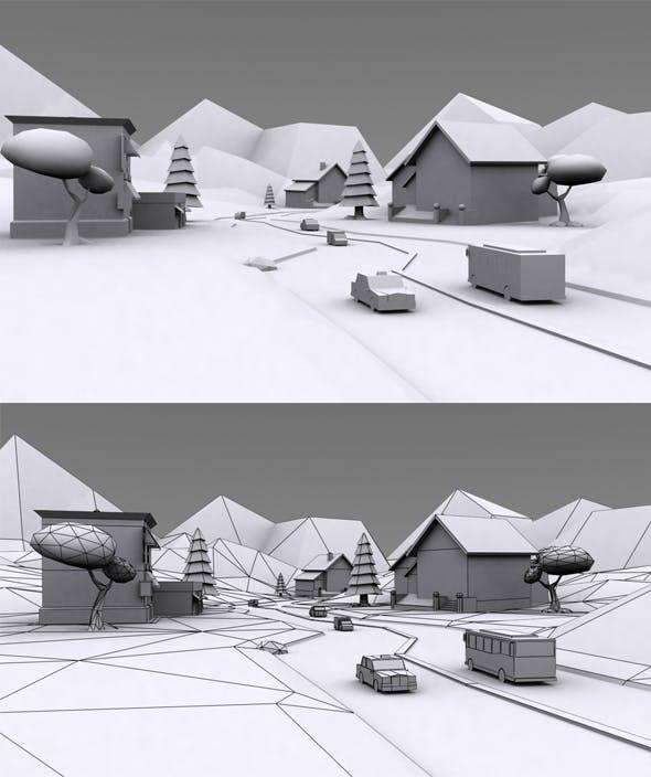 VR Cartoon Environment - 3DOcean Item for Sale
