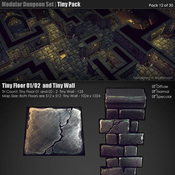 Modular Dungeon Set | Tiny Pack (12 of 20)