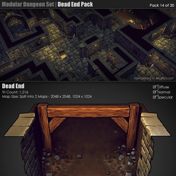 Modular Dungeon Set | Dead End Pack (14 of 20)