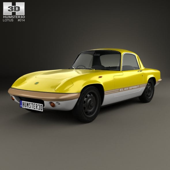 Lotus Elan Sprint Fixed-head Coupe 1971 - 3DOcean Item for Sale