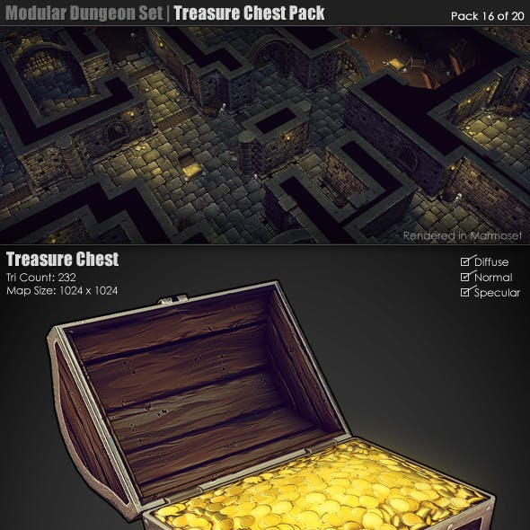 Modular Dungeon Set|Treasure Chest Pack (16 of 20)
