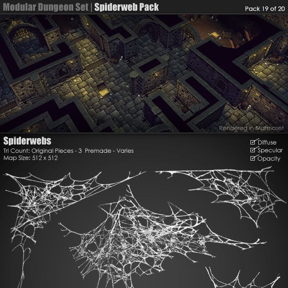 Modular Dungeon Set | Spiderweb Pack (19 of 20)