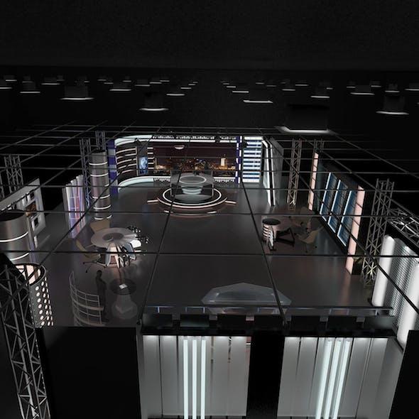Virtual TV Studio News Set 6