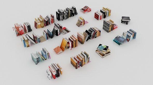 100 unique books collection 002 - 3DOcean Item for Sale
