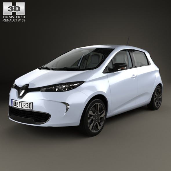 Renault ZOE with HQ interior 2013 - 3DOcean Item for Sale