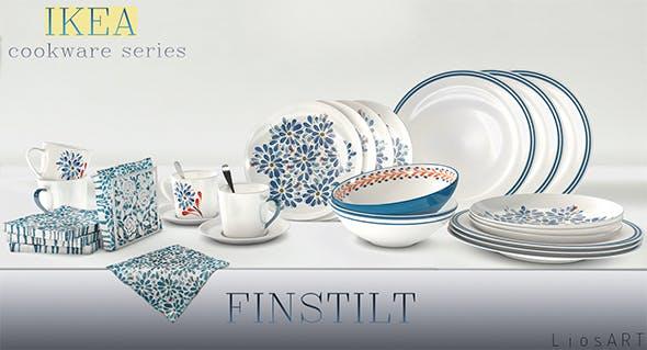 ikea dishes finstilt - 3DOcean Item for Sale
