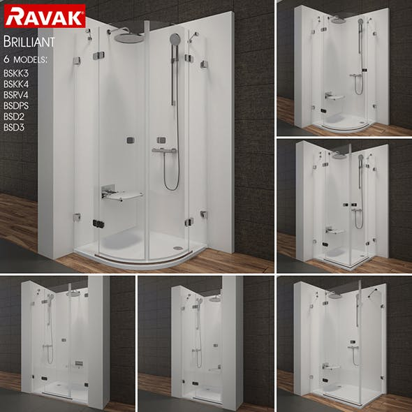 Shower room RAVAK Brilliant