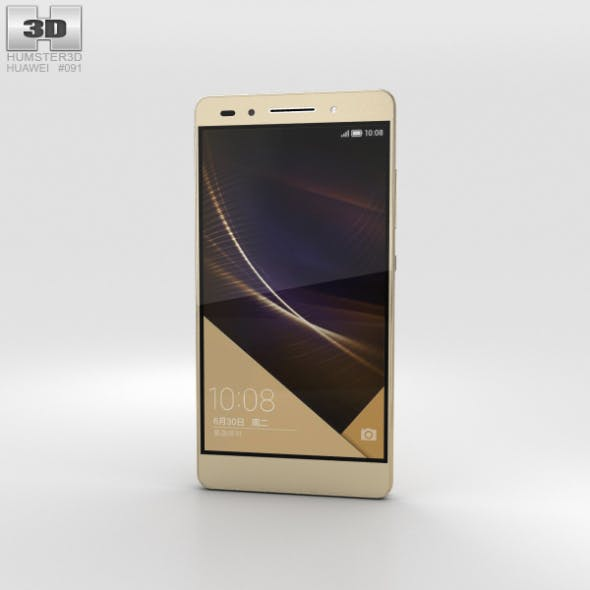 Huawei Honor 7 Gold - 3DOcean Item for Sale