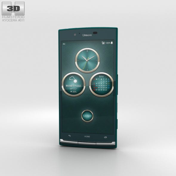 Kyocera Urbano V02 Green - 3DOcean Item for Sale