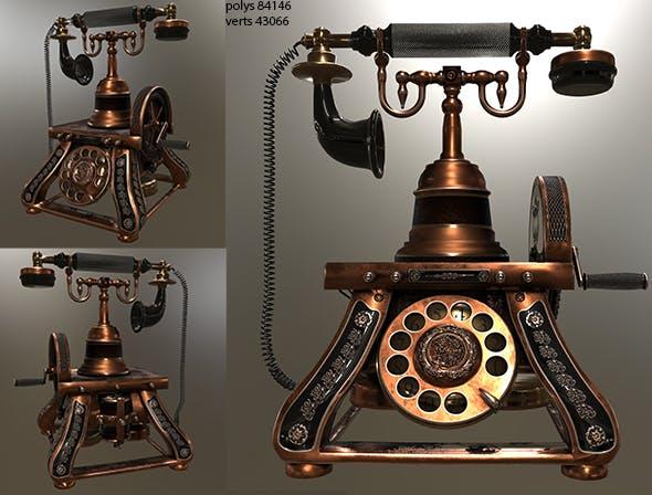 Retro phone - 3DOcean Item for Sale