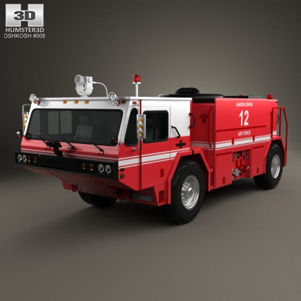 Oshkosh P19 Fire Truck 1984 - 3DOcean Item for Sale