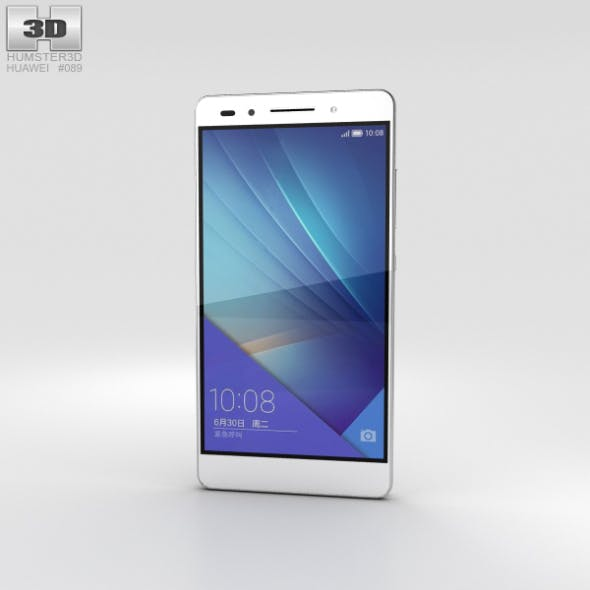 Huawei Honor 7 White - 3DOcean Item for Sale