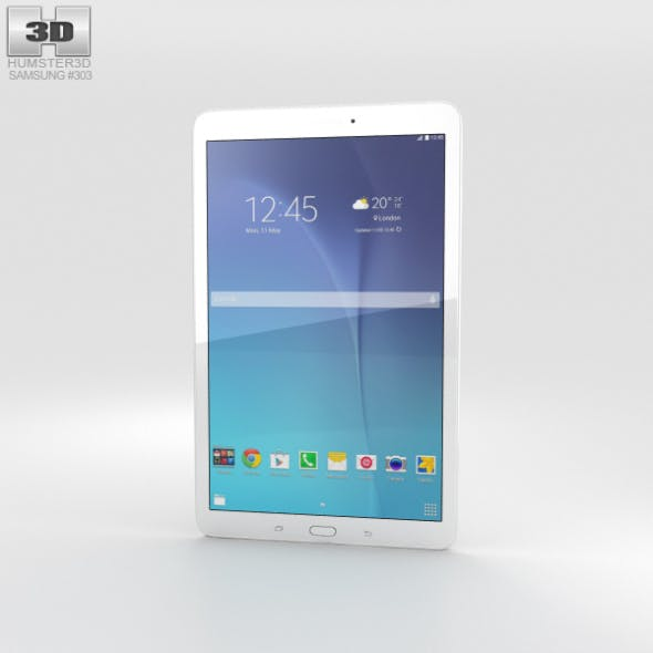 Samsung Galaxy Tab E 9.6 White - 3DOcean Item for Sale