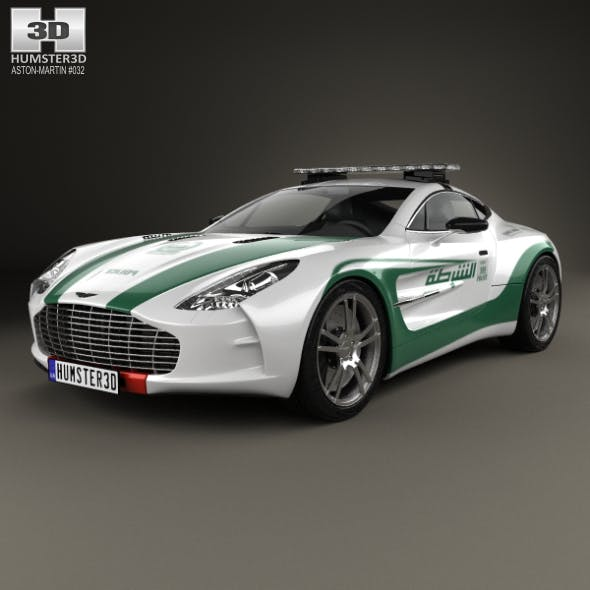 Aston Martin One-77 Police Dubai 2013 - 3DOcean Item for Sale