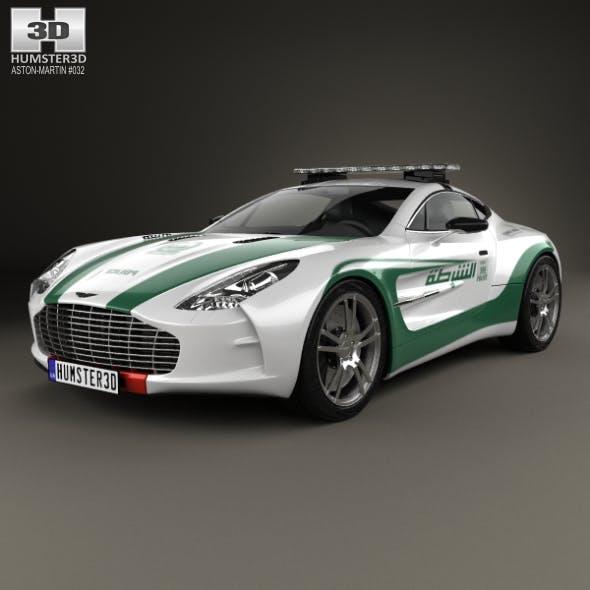Aston Martin One-77 Police Dubai 2013