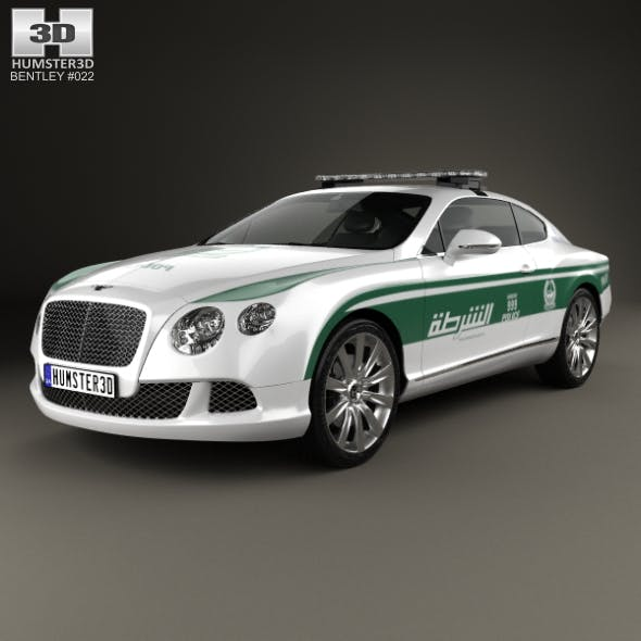 Bentley Continental GT Police Dubai 2013