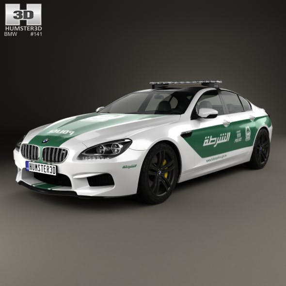 BMW 6 Series M6 (F13) GranCoupe Police Dubai 2014 - 3DOcean Item for Sale