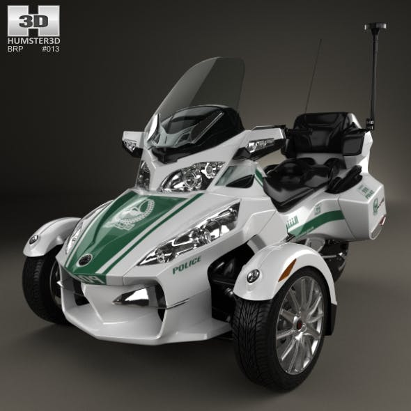 BRP Can-Am Spyder Police Dubai 2014 - 3DOcean Item for Sale