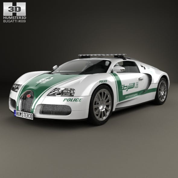 Bugatti Veyron Police Dubai 2014 - 3DOcean Item for Sale