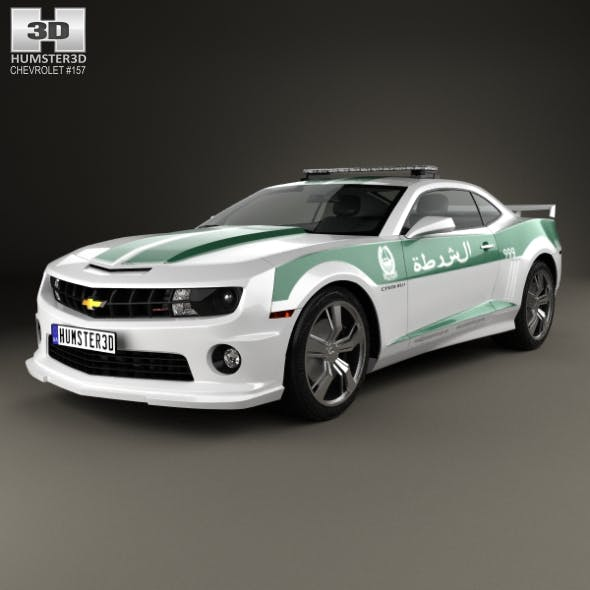 Chevrolet Camaro Police Dubai 2013 - 3DOcean Item for Sale