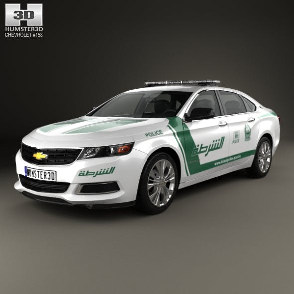 Chevrolet Impala Police Dubai 2014 - 3DOcean Item for Sale
