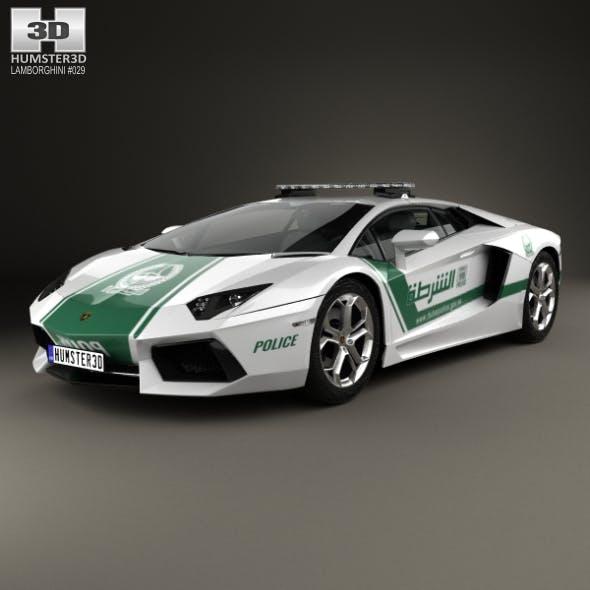 Lamborghini Aventador Police Dubai 2013 - 3DOcean Item for Sale