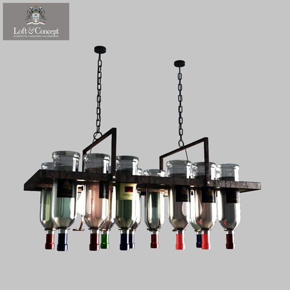 Bottle Bar Rectangle 80 - 3DOcean Item for Sale