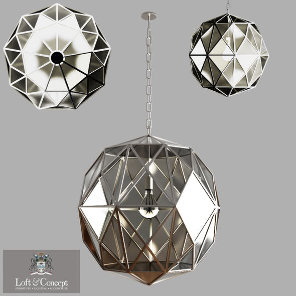Glass Metal Cage Pendant - 3DOcean Item for Sale