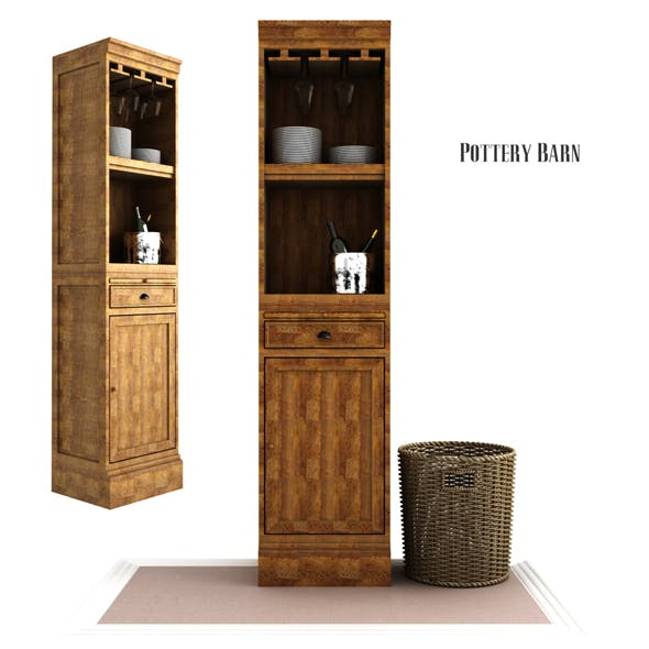 Modular Bar With Cabinet Tower - 3DOcean Item for Sale