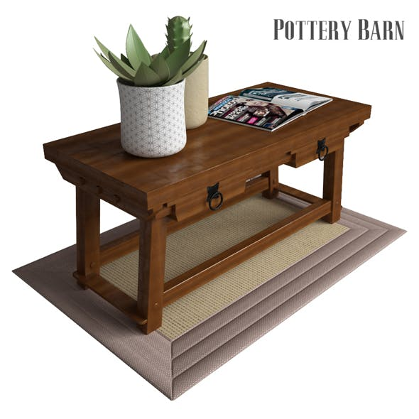 Pottery Barn Monroe Console Table - 3DOcean Item for Sale
