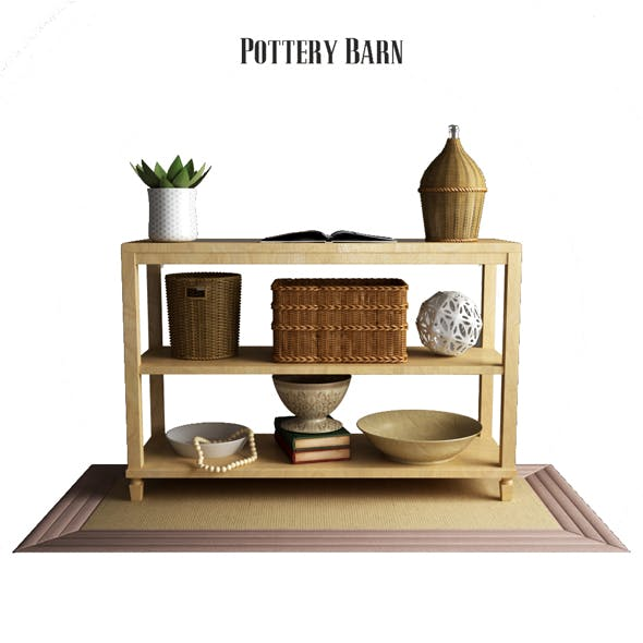 Pottery Barn Sausalito Console Table - 3DOcean Item for Sale