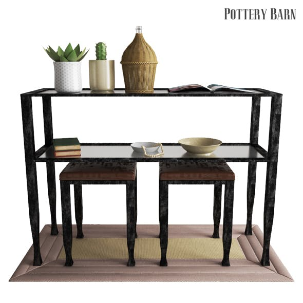 Pottery Barn Tanner Console Table - Bronze Finish