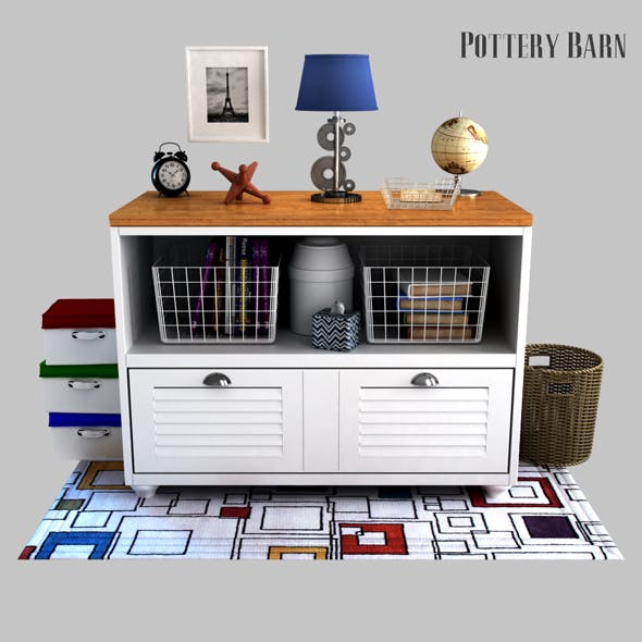 Whitney Lateral File Cabinet - 3DOcean Item for Sale