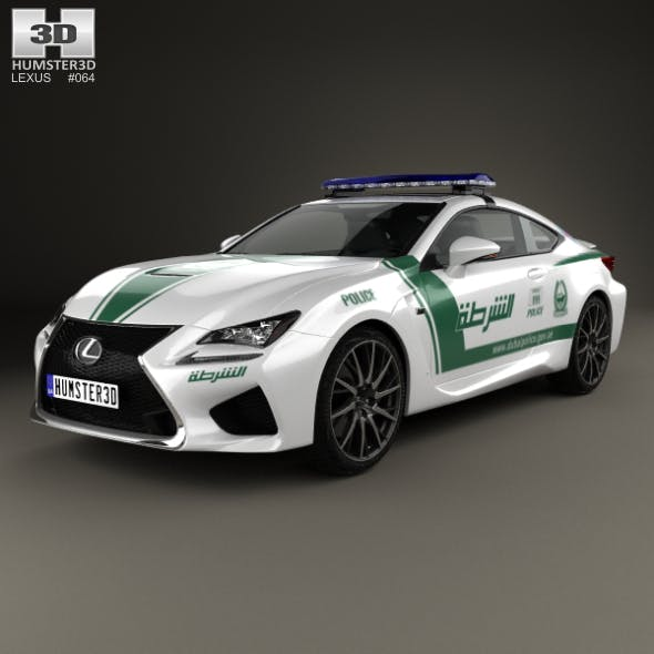 Lexus RC F Police Dubai 2015 - 3DOcean Item for Sale