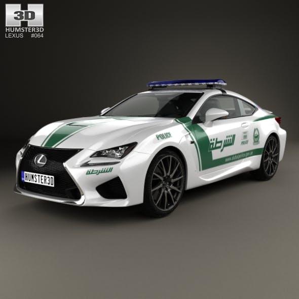 Lexus RC F Police Dubai 2015