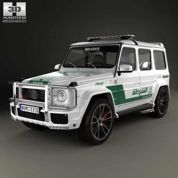Mercedes-Benz G-class Brabus G700 Widestar Police Dubai 2013 - 3DOcean Item for Sale