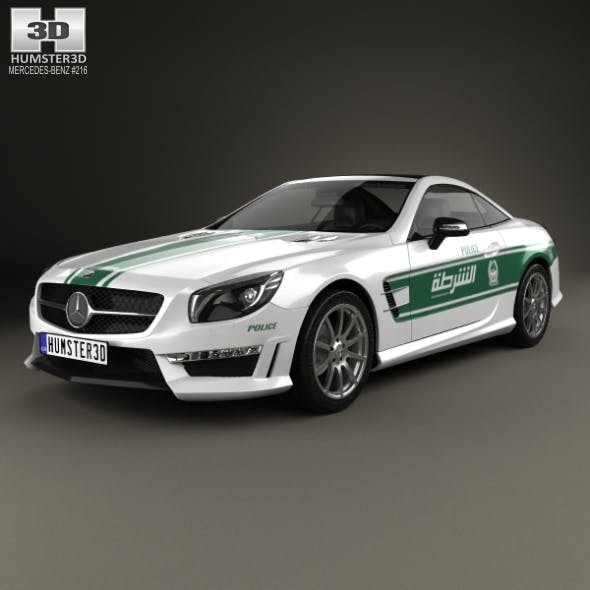Mercedes-Benz SL-class (R321) AMG Police Dubai 2013 - 3DOcean Item for Sale