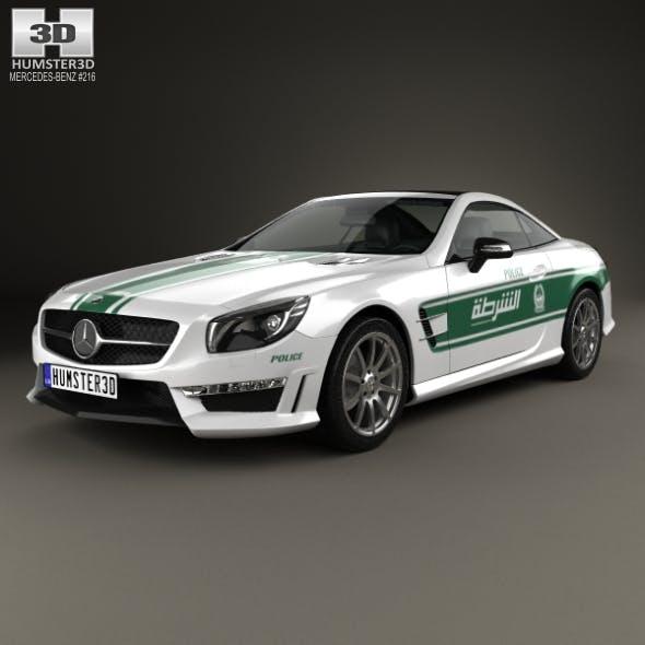 Mercedes-Benz SL-class (R321) AMG Police Dubai 2013