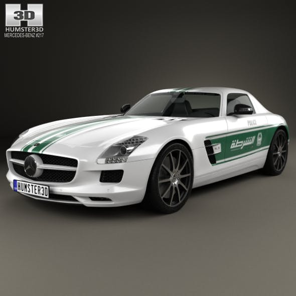 Mercedes-Benz SLS-class (C197) AMG Police Dubai 2013 - 3DOcean Item for Sale