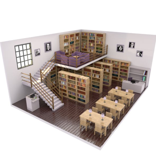Low Poly Library