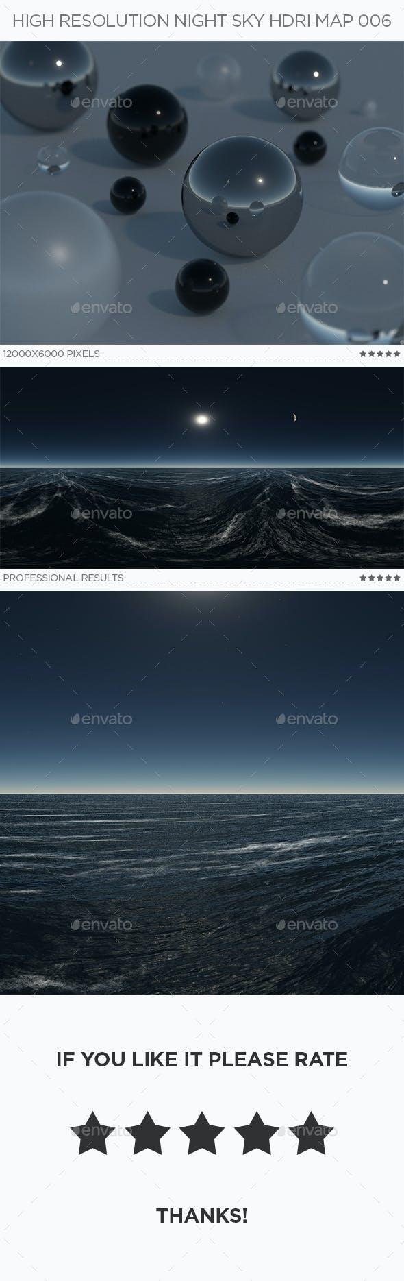 High Resolution Night Sky HDRi Map 006 - 3DOcean Item for Sale