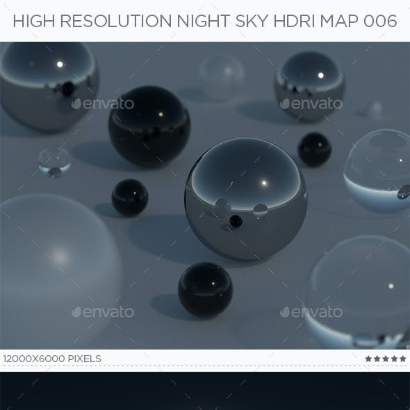 High Resolution Night Sky HDRi Map 006