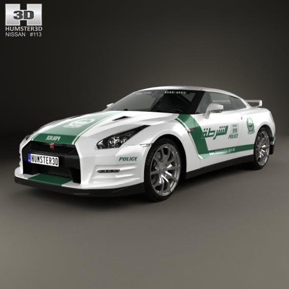 Nissan GT-R (R35) Police Dubai 2013 - 3DOcean Item for Sale