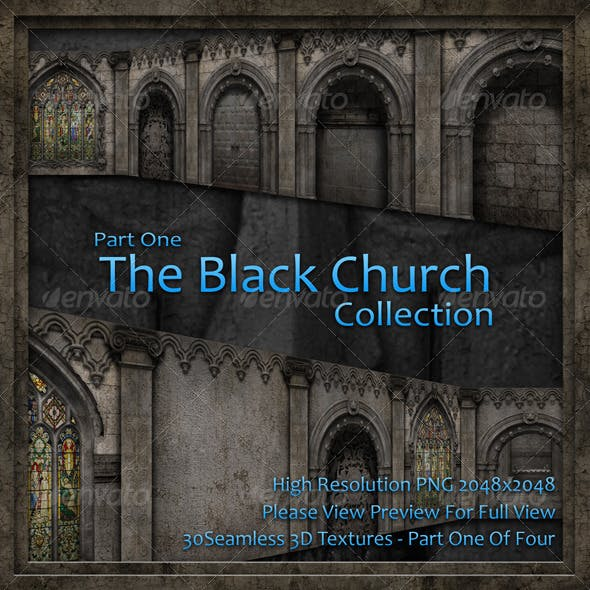 The Black Church Collection – Part One - 3DOcean Item for Sale