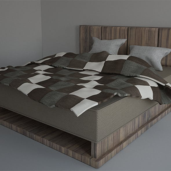 Bed with Pillow and Bedsheet