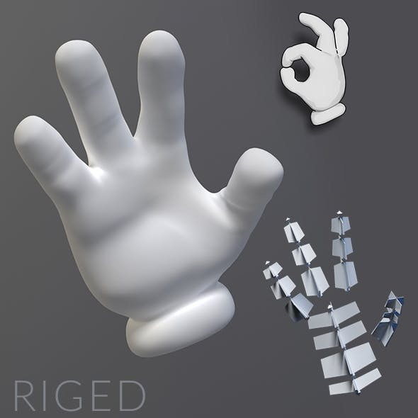 Cartoon Hand Riged - 3DOcean Item for Sale