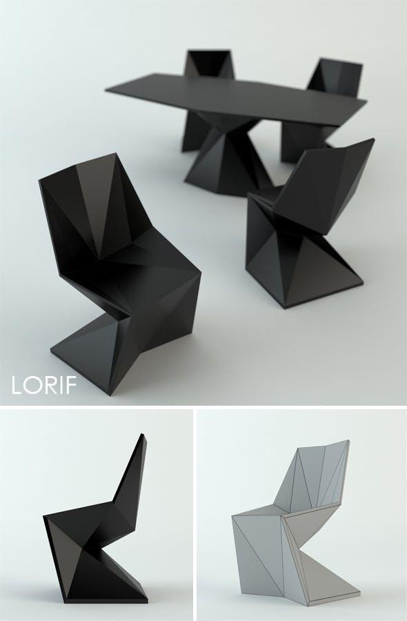 Vondom Vertex chair and table by Karim Rashid - 3DOcean Item for Sale