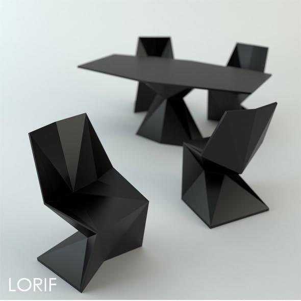 Vondom Vertex chair and table by Karim Rashid
